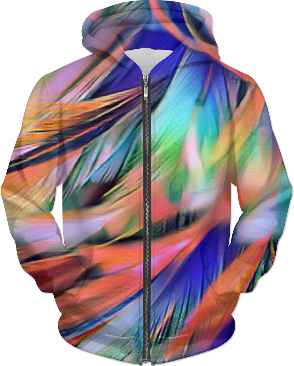 Colored Feathers Hoodie