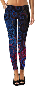 Blue Swirlies Leggings