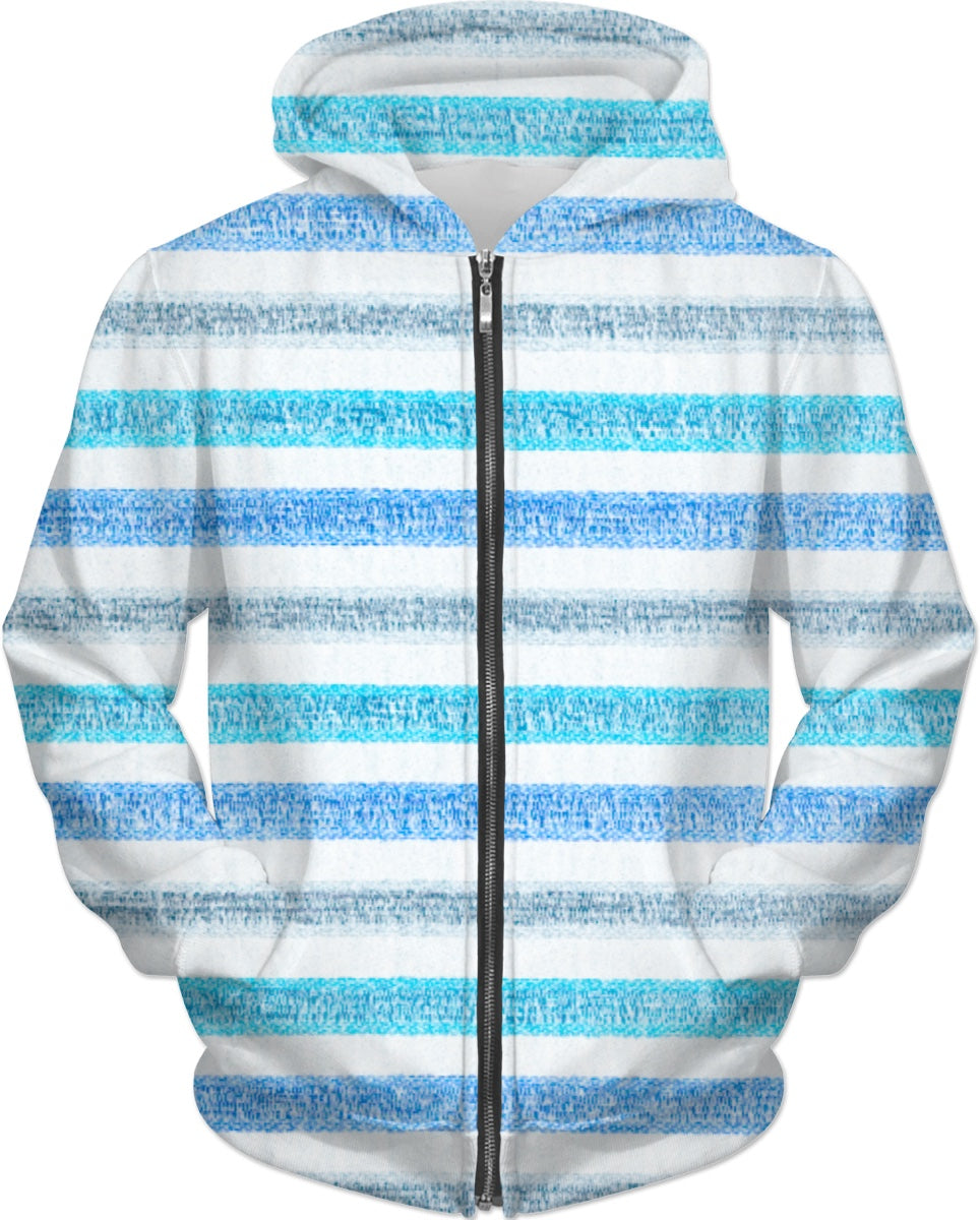 Blues Striped Hoodie
