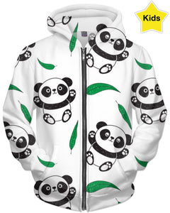 Pandas And Green Children's Hoodie