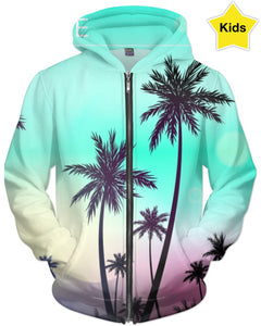Palm Trees Blue Skies Children's Hoodie