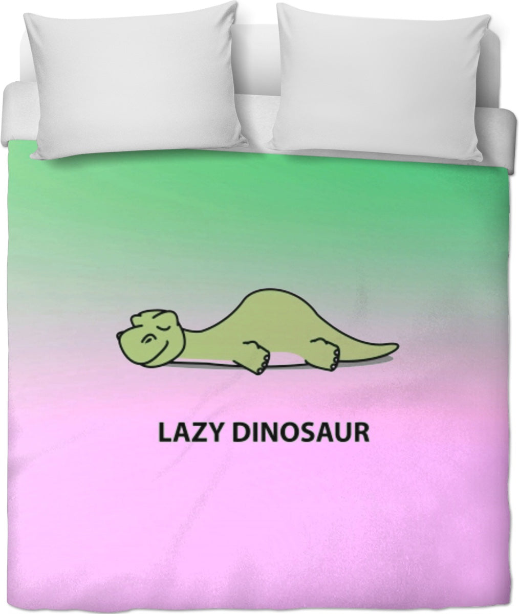 Lazy Dinosaur Duvet Cover