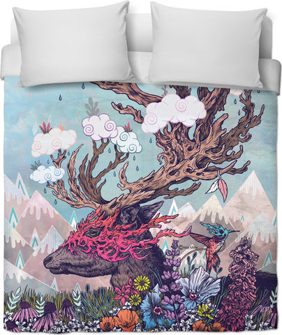 Journeying Spirit (Deer) Duvet Cover