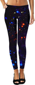 Orange And Blue Complementary Leggings