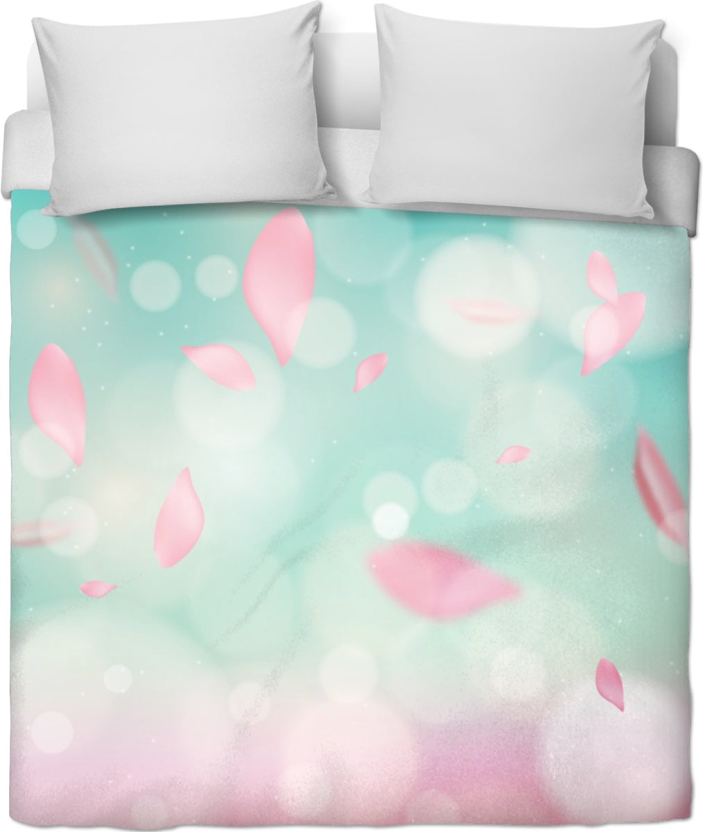 Minty Leaves Duvet Cover