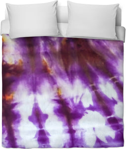 Grape Tie Dye Duvet Cover
