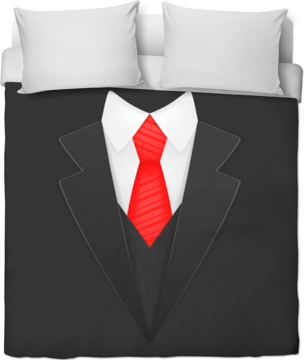 Suit And Tie Duvet Cover