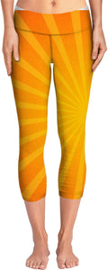 Yellow Sunburst Yoga Pants
