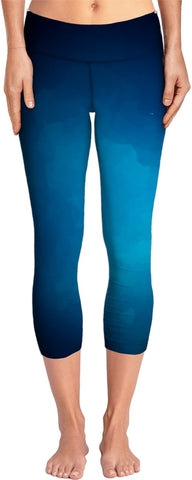 Blue Gradient Yoga Pants