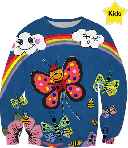 Butterfly Greetings Kids Sweatshirt