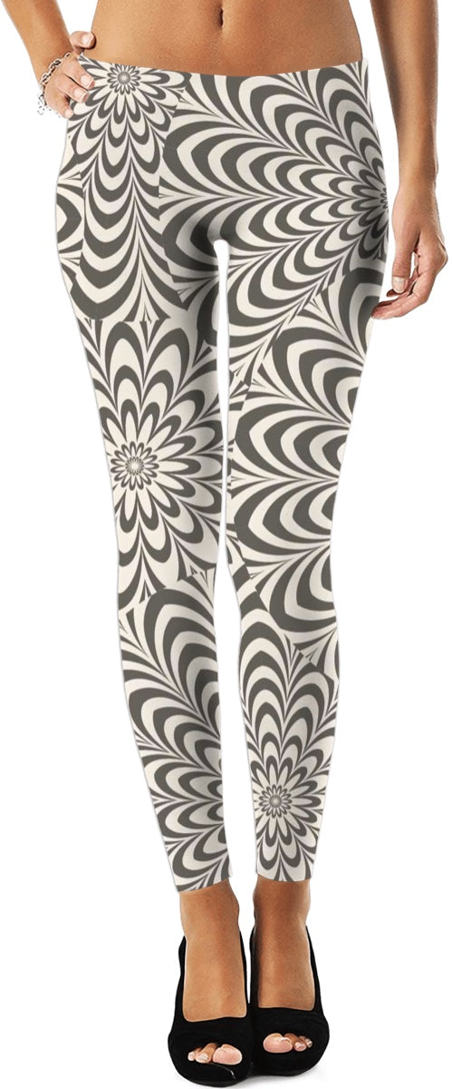 Flowers And Stripes Leggings
