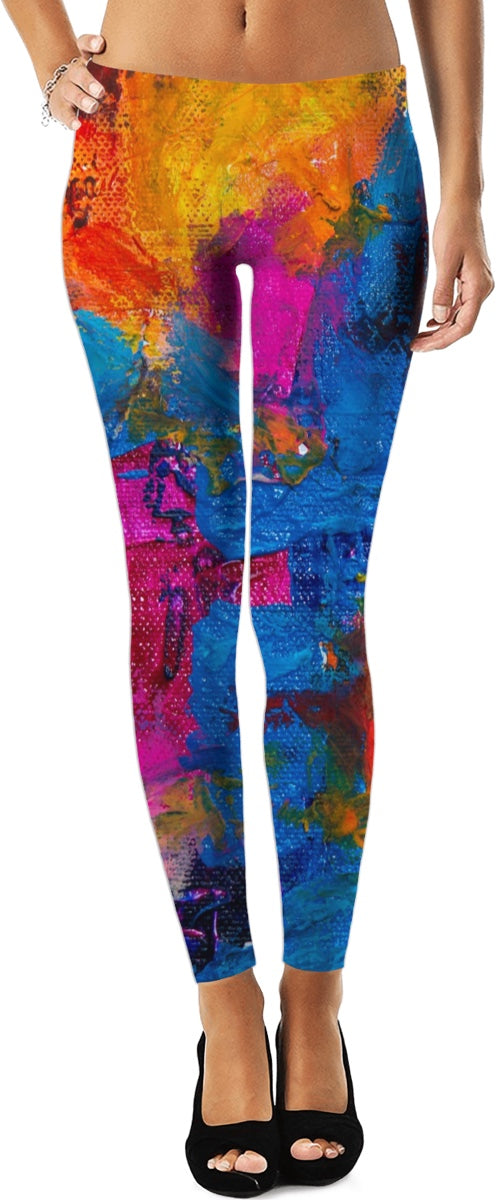Art And Beauty Leggings/Plus Sizes Available/XS - 5XL