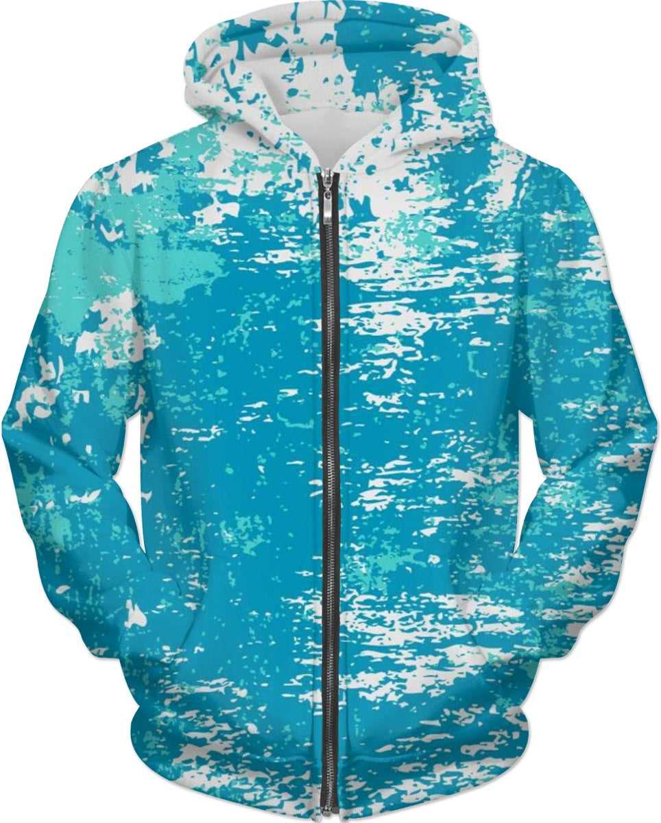 Aqua Abstract Hoodie