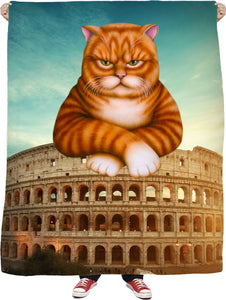Colosseum Cat Fleece Blanket