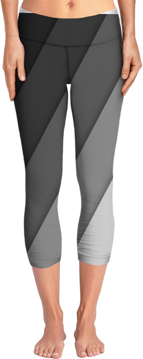 Black To Grey Yoga Pants