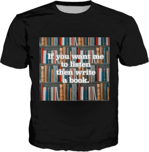 A Book (Black) T-Shirt