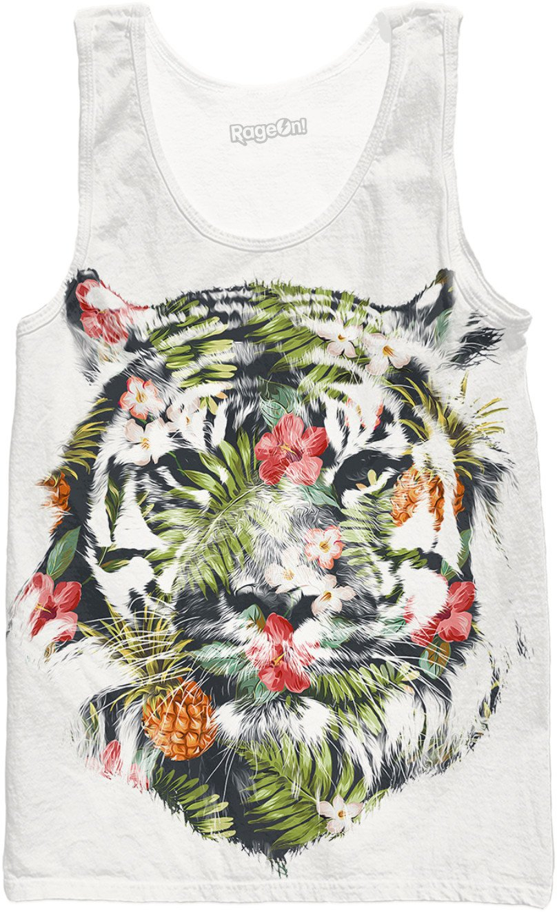 Tropical tiger Tank Top