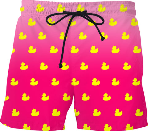 Pink Rubber Duckie Swim Shorts