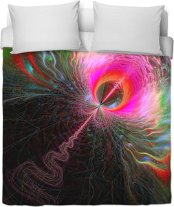 Fractal ~ Down The Rabbit Hole Duvet