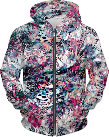 Abstract Flowers Hoodie