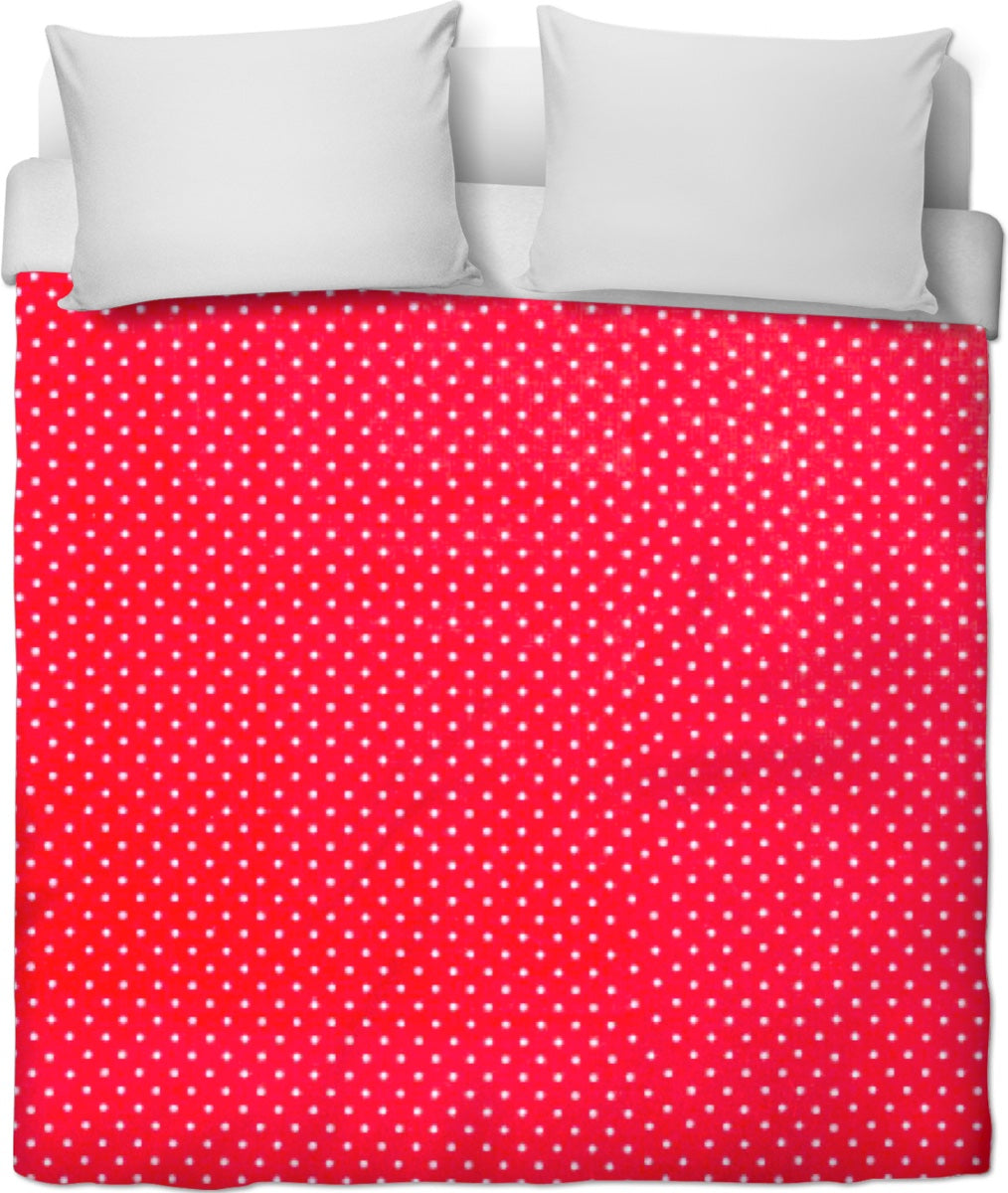 Red And White Polka Dot Duvet Cover