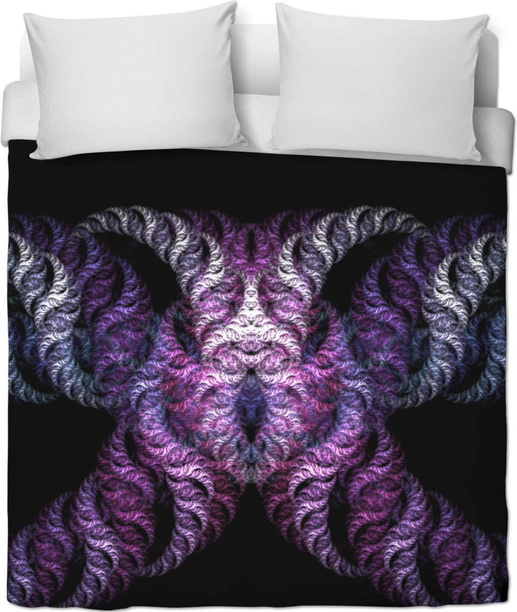 Interpretations Fractal Art Duvet Cover