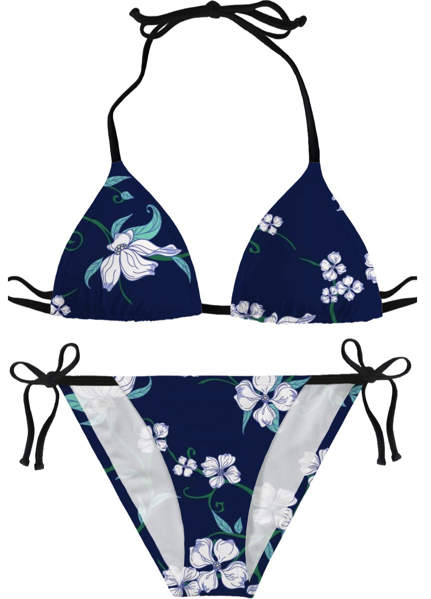 Blue Flowered Bikini