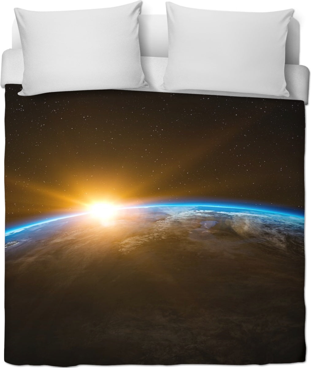 View Of Earth Duvet Cover