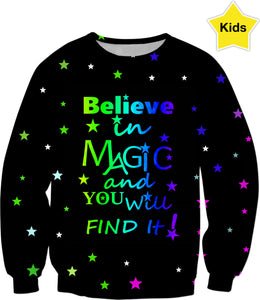 Believe In Magic Kids Sweatshirt