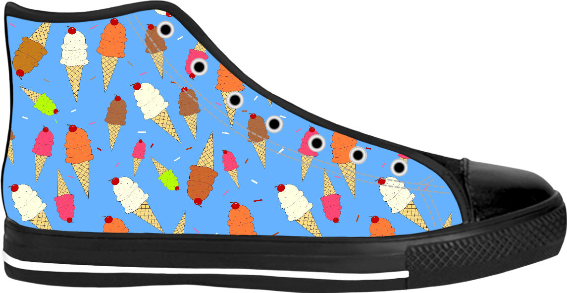 Ice Cream Cascade Black High Tops