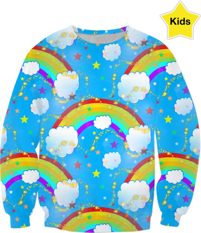 Somewhere Over The Rainbow Kids Sweatshirt