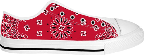Red Bandana Low tops