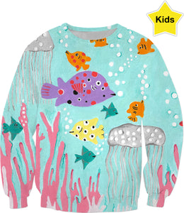 Tropical Fish Fantasy Kids Sweatshirt