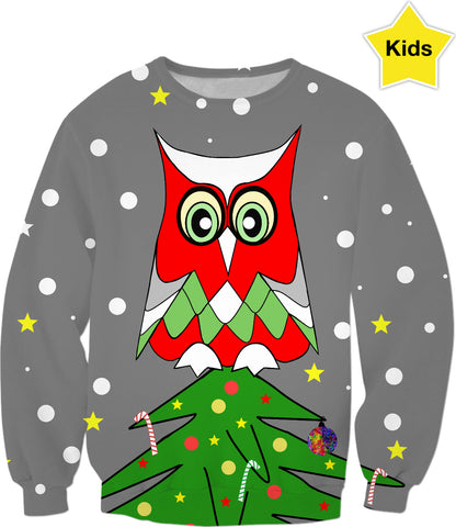 Tree Top Owl Kids Sweatshirt