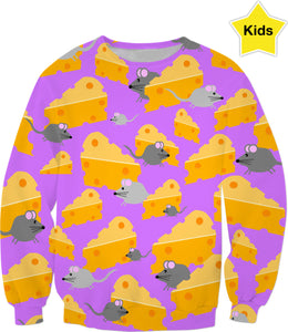 Mice And Cheese Kids Sweatshirt