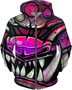 graffiti 911trainwreck tattoo foo dog Hoodie