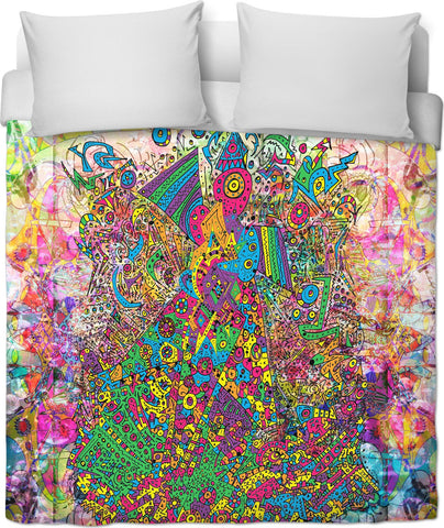 Whateva Whateva Neon Dance Like There's No Tomorrow Duvet Cover