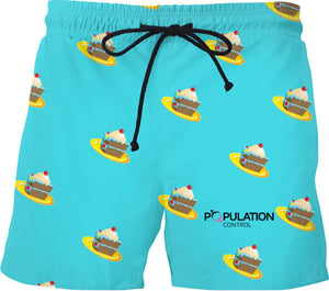 CAKE Blue Swim Trunks