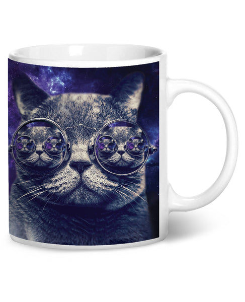 Hipster Cat Coffee Mug