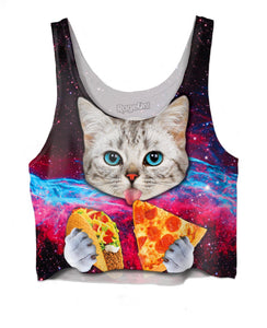 Taco Cat Crop Top