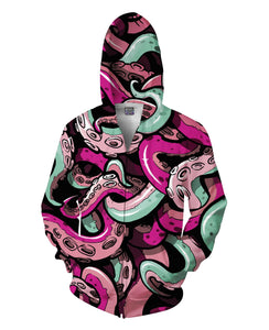 Tentacle Zip-Up Hoodie