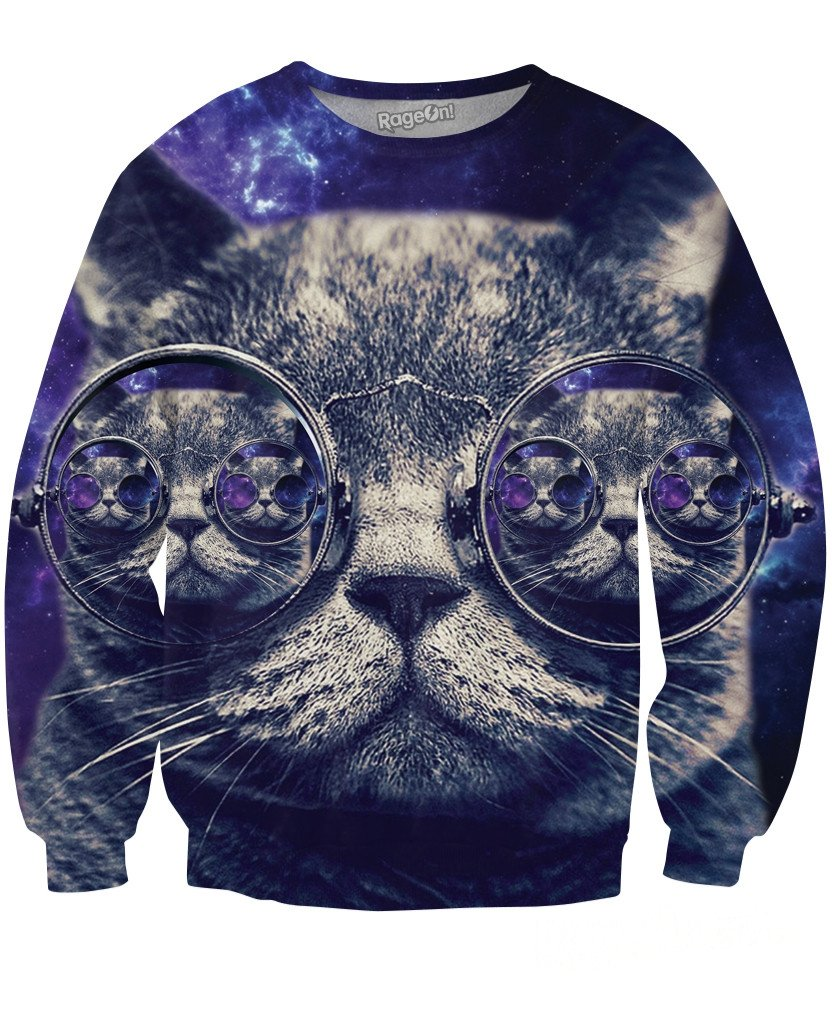 Hipster Cat Sweatshirt