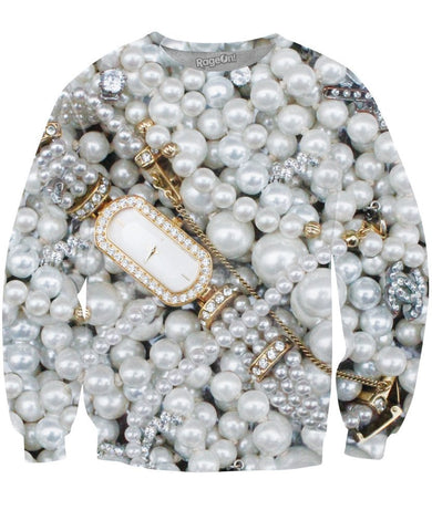 Pearls Crewneck Sweatshirt