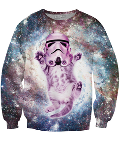 Helmet Cat Crewneck Sweatshirt