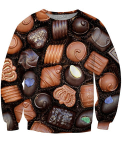 Box of Chocolates Crewneck Sweatshirts