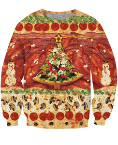 All I Want for Christmas is Pizza Crewneck Sweatshirt