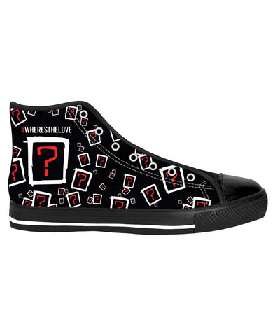 Where's the Love Collage Black Sole High Tops