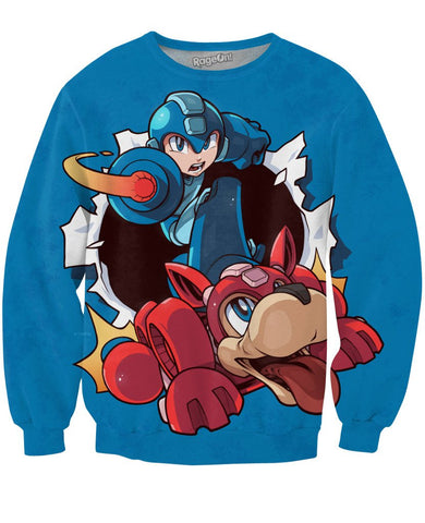 Mega Man Blue Sweatshirt