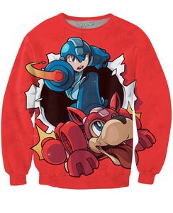Mega Man Red Sweatshirt