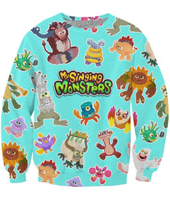 My Singing Monsters Cave Painting Crewneck Sweatshirt